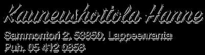 Kauneushoitola Hanne Logo